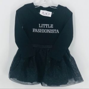 Children's Place Tutu Dress Black Girl 2T